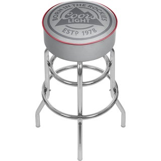 Coors Light Chrome Bar Stool with Swivel