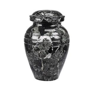 Star Legacy Classic Ebony Marble Vase Cremation Urn 3-piece Set