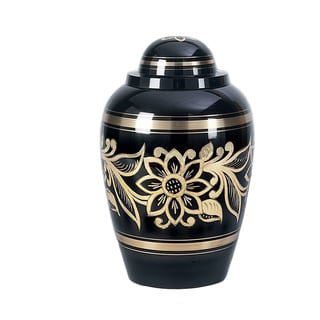 Star Legacy Ebony Bouquet Brass Cremation Urn