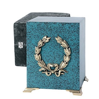 Star Legacy Patina Cube Brass Cremation Urn
