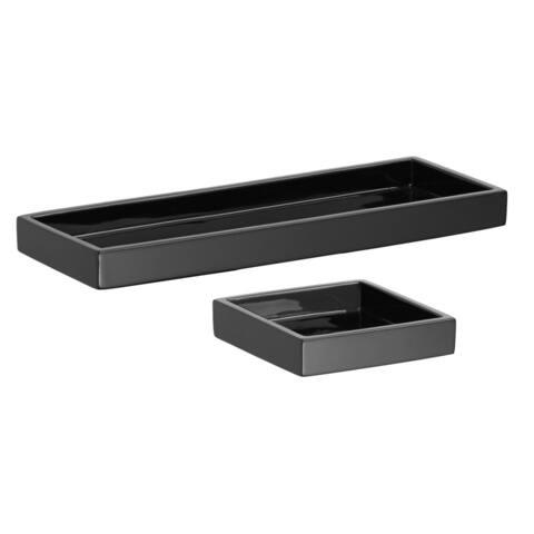 Kraftware Metropolitan Soap Dish/ Amenity Tray (Set of 2)
