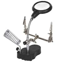 Stalwart 2 LED 3.5x Helping Hand Magnifier with Alligator Clips