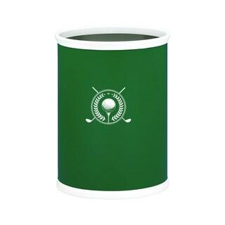 Kraftware Kasualware 14-inch Oval Waste Basket 13-quart Golf