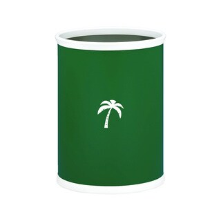 Kraftware Kasualware 14-inch Oval Waste Basket 13-quart Palm Tree