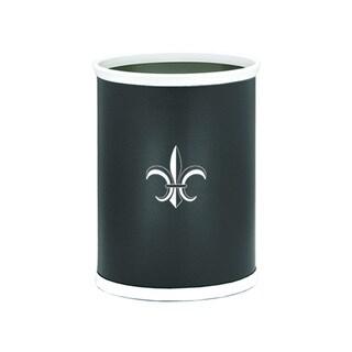 Kraftware Kasualware 14-inch Oval Waste Basket 13-quart Fleur de Lis