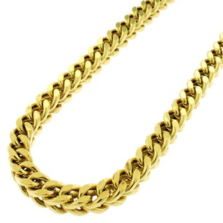 14k Yellow Gold 6mm Hollow Franco Square Box Link Necklace Chain 30 - 40""
