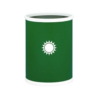 Kraftware Kasualware 14-inch Oval Waste Basket 13-quart Sunshine