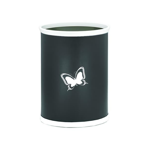 Kasualware 14-inch Oval Waste Basket 13-quart Butterfly