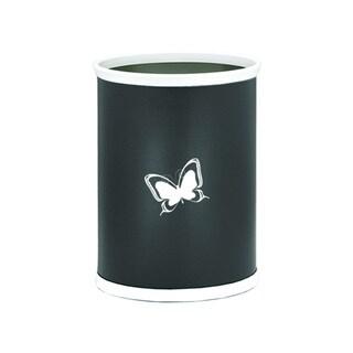 Kraftware Kasualware 14-inch Oval Waste Basket 13-quart Butterfly