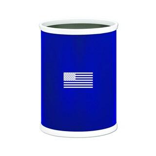 Kraftware Kasualware 14-inch Oval Waste Basket 13-quart U.S.A.