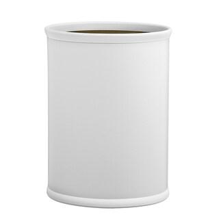 Kraftware Contempo 14-inch Oval Waste Basket Tan Bumper