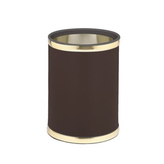 Sophisticates with Polished Gold 10.75-inch Round Waste Basket