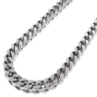 14k White Gold 6.5mm Hollow Franco Chain Necklace|https://ak1.ostkcdn.com/images/products/11668466/P18597328.jpg?impolicy=medium