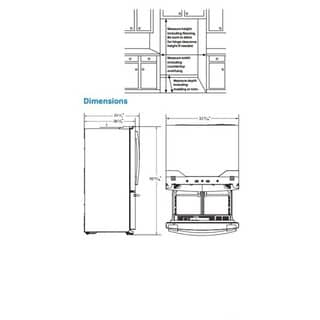 Samsung 33 Inch French Door Refrigerator