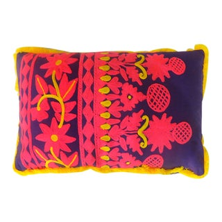Lumbar Rabari Cotton Pillow (India)