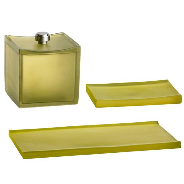 Malibu Soap Dish/ Accessory Jar/ Amenity Tray (Set of 3)
