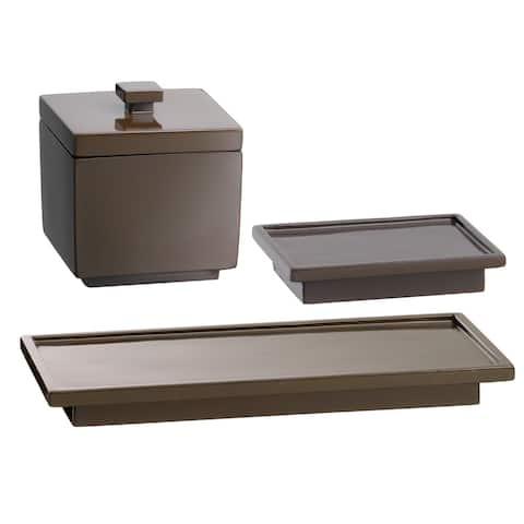Kraftware Hemingway Soap Dish/ Accessory Jar Amenity Tray (Set of 3)