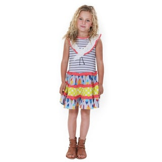 Jelly the Pug Girls' Knit Sleeveless Round Neck Dress