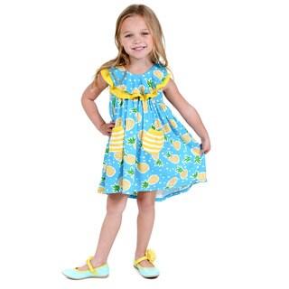 Jelly the Pug Girls' Becca Knit Sleeveless Round Neck Dress