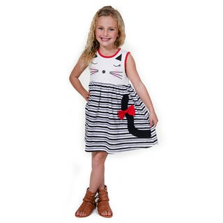 Jelly the Pug Girls' Catnap Knit Sleeveless Round Neck Dress