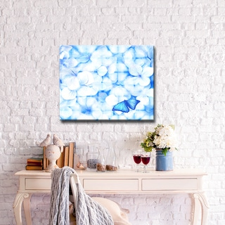 Bloom' Abstract Wrapped Canvas Wall Art