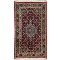 Herat Oriental Indo Hand-knotted Bidjar Wool Rug (2'6 x 4'8)