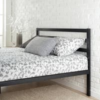 Priage Black Metal Platform Full Size Bed