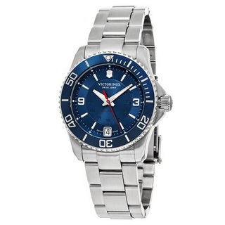 Swiss Army Women's V241709 'Maverick' Blue Dial Stainless Steel Swiss Automatic Watch