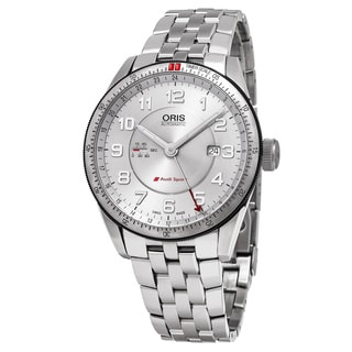Oris Men's 01 747 7701 4461-07 8 22 85 'Audi' Silver Dial Stainless Steel GMT Sport Swiss Automatic