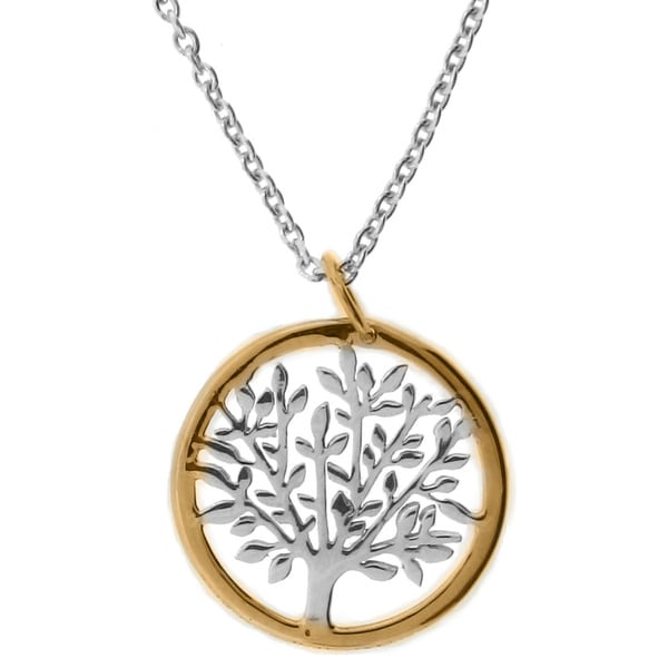 meredith leigh 14k yellow gold and sterling silver tree