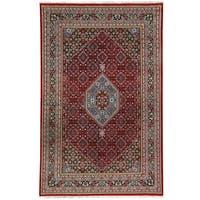 Handmade Herat Oriental Indo Bidjar Wool Rug (India) - 5'10 x 8'2