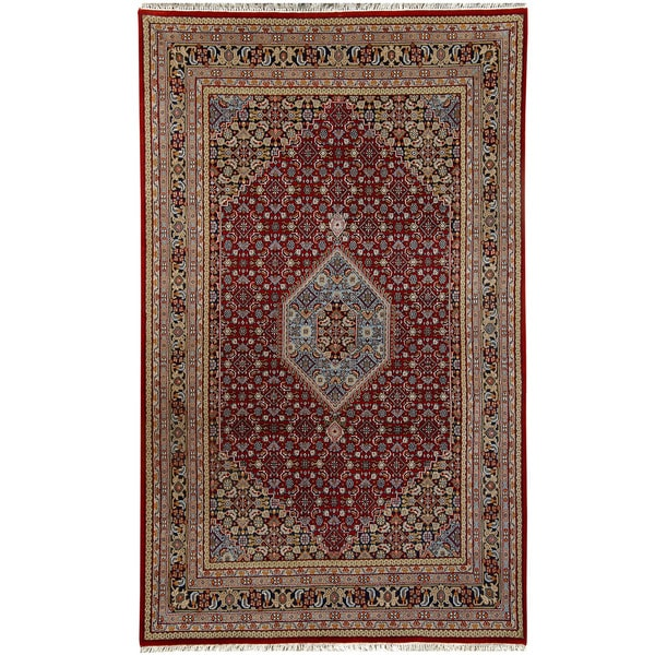 Fine Round Persian Bidjar Area Rug Hand Knotted Wool And: Herat Oriental Indo Hand-knotted Bidjar Wool Rug (7'10 X 8