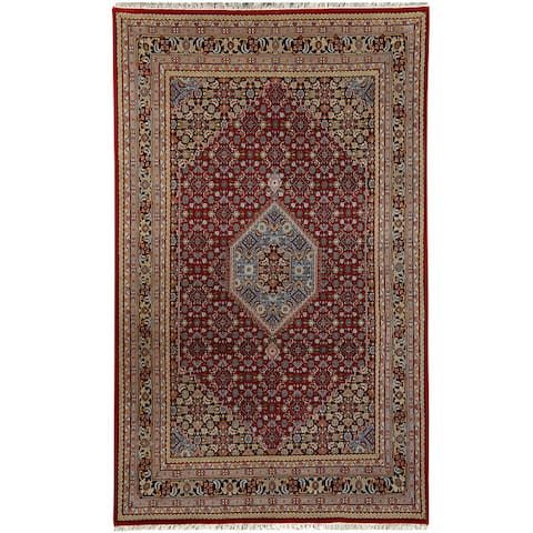 "Handmade One-of-a-Kind Bidjar Wool Rug (India) - 7'10"" x 8'6"""
