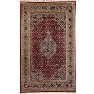 Herat Oriental Indo Hand-knotted Bidjar Red/ Navy Wool Rug (7'10 x 8'6)