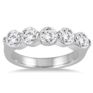 Marquee Jewels 10k White Gold 1 1/2ct TDW Diamond Anniversary Band (I-J, I2-I3)