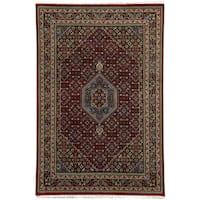 Handmade Herat Oriental Indo Bidjar Wool Rug - 5'6 x 8' (India)