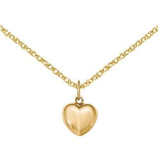 Versil 14k Yellow Gold Polished Puffed Heart Pendant