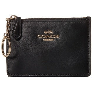 Coach Smooth Leather Mini Skinny Wallet