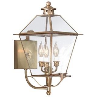 Troy Lighting Montgomery 3-light Large Glass Top Wall Lantern