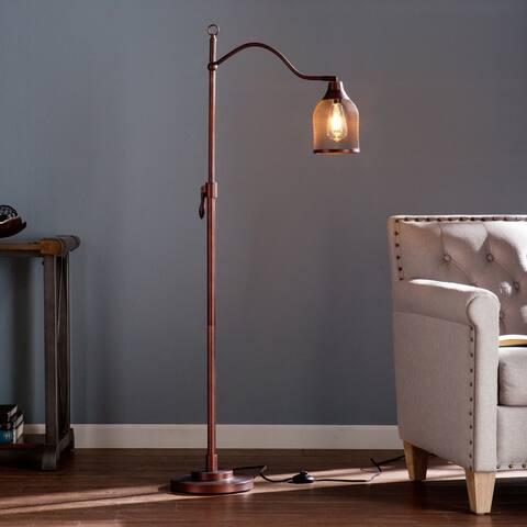 Ranell 58-Inch Copper/ Bronze Industrial Metal Floor Lamp