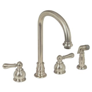 American Standard Hampton 2-Handle High-Arc Kitchen Faucet with Separate Side Spray 4751.732.295