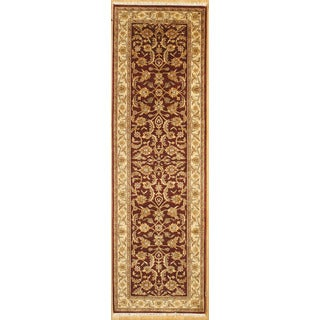Handmade with Persian Kashan Design Runner Rug (2' 9 x 9')