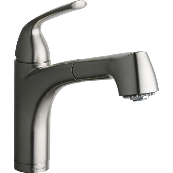 Shop Elkay Gourmet Single Hole Bar Faucet Pull Out Spray