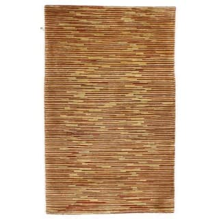Hand-knotted with Modern Design Area Rug (3' x 5')