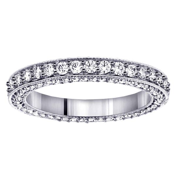 Platinum Diamond Eternity Wedding Band