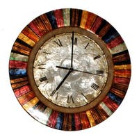 Handmade Multicolor Metal Art Clock (Philippines)