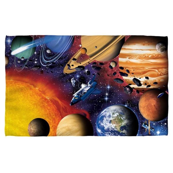 Solar System Poly 30x58 Beach Towel