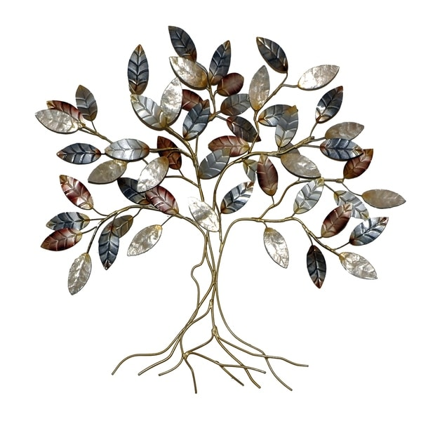 Handmade Leafed Tree Wall Decor Cool Color