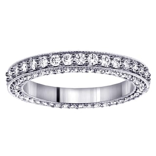 14k/18k White Gold Diamond Eternity Wedding Band