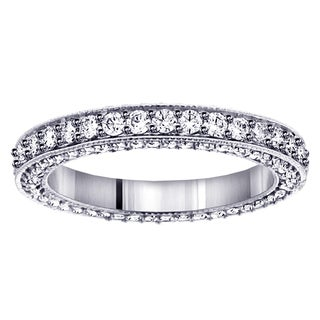 14k White Gold Diamond Eternity Wedding Band